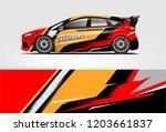 sport car racing wrap design.... | Shutterstock .eps vector #1203661837