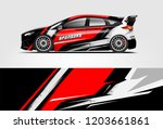 sport car racing wrap design.... | Shutterstock .eps vector #1203661861