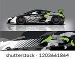 sport car racing wrap design.... | Shutterstock .eps vector #1203661864