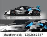 sport car racing wrap design.... | Shutterstock .eps vector #1203661867