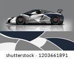sport car racing wrap design.... | Shutterstock .eps vector #1203661891