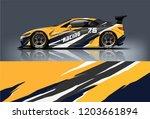 sport car racing wrap design.... | Shutterstock .eps vector #1203661894