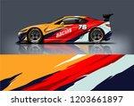 sport car racing wrap design.... | Shutterstock .eps vector #1203661897