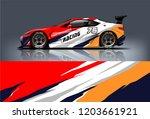 sport car racing wrap design.... | Shutterstock .eps vector #1203661921