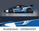 sport car racing wrap design.... | Shutterstock .eps vector #1203661924
