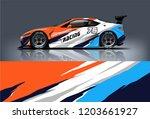 sport car racing wrap design.... | Shutterstock .eps vector #1203661927