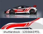 sport car racing wrap design.... | Shutterstock .eps vector #1203661951