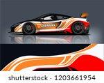 sport car racing wrap design.... | Shutterstock .eps vector #1203661954