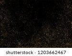 gold glitter texture isolated... | Shutterstock . vector #1203662467