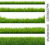 green grass borders set... | Shutterstock . vector #1203662794