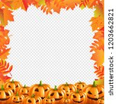 autumn discount halloween... | Shutterstock . vector #1203662821