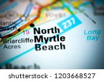 north myrtle beach. augusta.... | Shutterstock . vector #1203668527