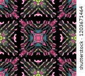 biomorphic vibrant tile... | Shutterstock .eps vector #1203671464