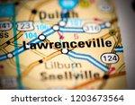 lawrenceville. georgia. usa on... | Shutterstock . vector #1203673564