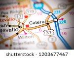 calera. alabama. usa on a map | Shutterstock . vector #1203677467