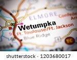 wetumpka. alabama. usa on a map | Shutterstock . vector #1203680017