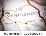 montgomery. alabama. usa on a... | Shutterstock . vector #1203680254