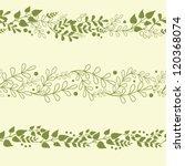 three vector green plants...   Shutterstock .eps vector #120368074