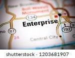 enterprise. alabama. usa on a... | Shutterstock . vector #1203681907