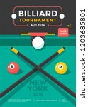 billiard tournament sport... | Shutterstock .eps vector #1203685801