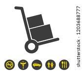 handcart icon on white...   Shutterstock .eps vector #1203688777