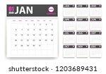2019 calendar in paper stickers ... | Shutterstock .eps vector #1203689431