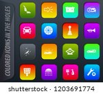 car shop colored icons in the... | Shutterstock .eps vector #1203691774