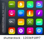 car shop colored icons in the... | Shutterstock .eps vector #1203691897