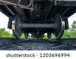 under the train. super wide...   Shutterstock . vector #1203696994
