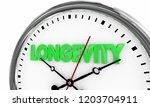 longevity lasting over time... | Shutterstock . vector #1203704911