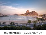 aerial view of botafogo ...   Shutterstock . vector #1203707407