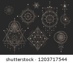 vector set of sacred geometric... | Shutterstock .eps vector #1203717544