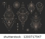 vector set of sacred geometric... | Shutterstock .eps vector #1203717547