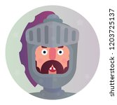 medieval knight icon | Shutterstock .eps vector #1203725137
