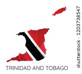 map of trinidad and tobago with ... | Shutterstock .eps vector #1203738547