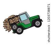 coffee car transportation icon | Shutterstock .eps vector #1203738871