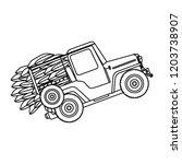 coffee car transportation icon | Shutterstock .eps vector #1203738907