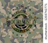 biochemistry on camouflaged... | Shutterstock .eps vector #1203742771