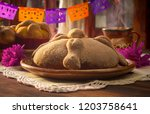mexican bread of the dead 2 of... | Shutterstock . vector #1203758641