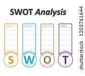 swot analysis table template... | Shutterstock .eps vector #1203761644