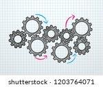 marketing mechanism concept.... | Shutterstock .eps vector #1203764071