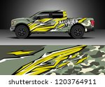 pick up truck decal design... | Shutterstock .eps vector #1203764911