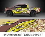 pick up truck decal design... | Shutterstock .eps vector #1203764914