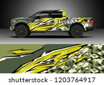 pick up truck decal design... | Shutterstock .eps vector #1203764917