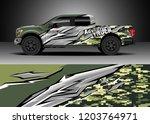 pick up truck decal design... | Shutterstock .eps vector #1203764971