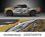 pick up truck decal design... | Shutterstock .eps vector #1203764974