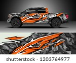 pick up truck decal design... | Shutterstock .eps vector #1203764977