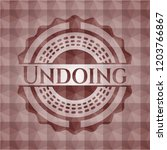 undoing red emblem with...   Shutterstock .eps vector #1203766867