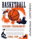 basketball season tournament... | Shutterstock .eps vector #1203768421