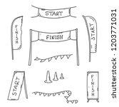 vector illustration of start... | Shutterstock .eps vector #1203771031